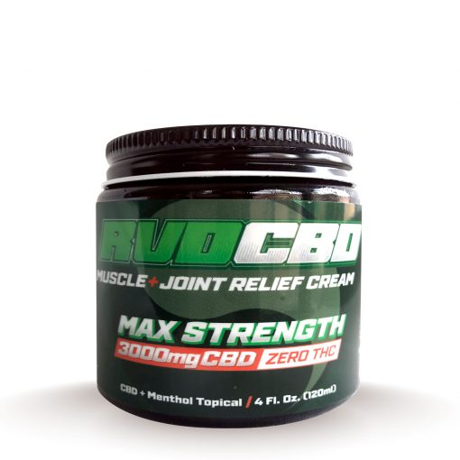 RVDCBD 3000mg Muscle + Joint Relief Cream Topical – Alt (Front View)