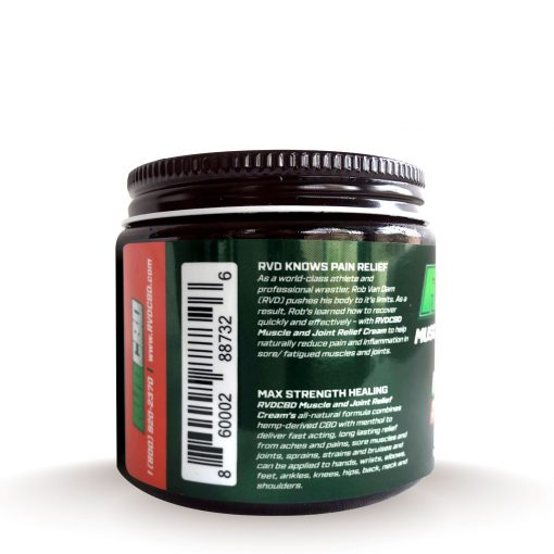 RVDCBD 3000mg Muscle + Joint Relief Cream Topical – Alt (Left View)