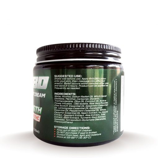 RVDCBD 3000mg Muscle + Joint Relief Cream Topical – Alt (Right View)