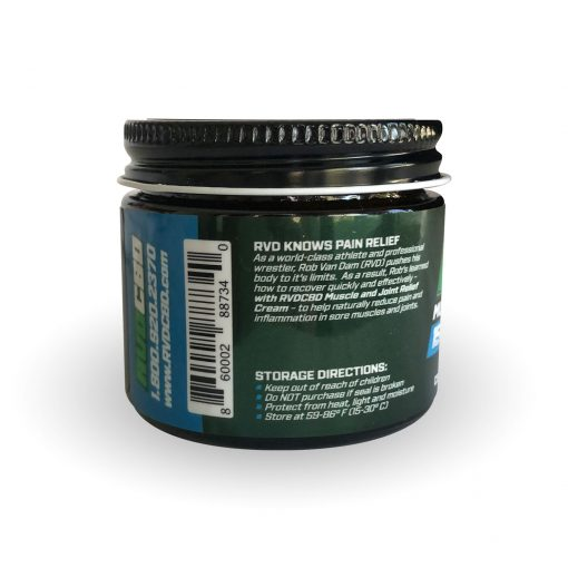 RVDCBD 1500mg Muscle + Joint Relief Cream Topical – 2 Fl. Oz. (Left View)