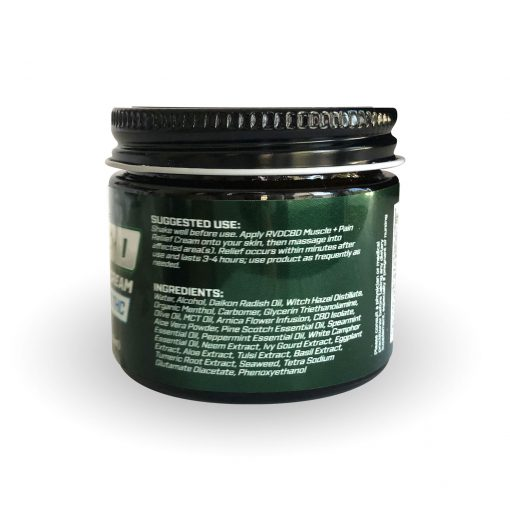 RVDCBD 1500mg Muscle + Joint Relief Cream Topical – 2 Fl. Oz. (Right View)