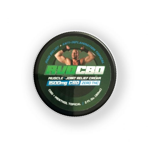 RVDCBD 1500mg Muscle + Joint Relief Cream Topical – 2 Fl. Oz. (Top View)
